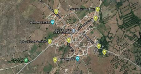 Mapa Fuentes en el Pueblo